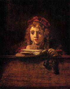 Rembrandt - The Artist's Son Titus at His Desk