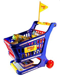 Toy Shopping Carts - Shopping Cart Play Set 55 Piece Set * Read more at the image link. Baby Shopping Cart Cover, Go Shopping, Shopping Carts, Online Toy Stores, Toys Online, Toys For Girls, Kids Toys, Pretend Grocery Store, Kids Indoor Playground