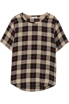 EQUIPMENT Riley Printed Washed-Silk Top. #equipment #cloth #top