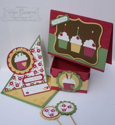 Create A Cupcake Set by kim021 - Cards and Paper Crafts at Splitcoaststampers
