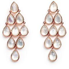 Ippolita Rosé Rock Candy Teardrop Cascade Chandelier Earrings found on Polyvore featuring polyvore, women's fashion, jewelry, earrings, rose, teardrop jewelry, rose earrings, 18k earrings, 18 karat gold jewelry and 18k jewelry