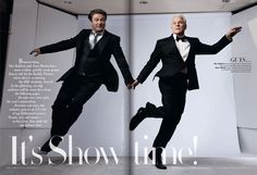Alec Baldwin and Steve Martin, photographed by Annie Leibovitz for the March 2010 issue.