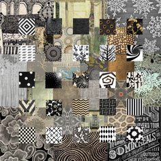 collage #quilt:: like the tonal work of low-value; note that outer blocks are rectangles turning corners!