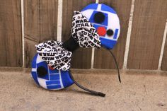 R2D2 STAR WARS Mouse Ear Headband w/ Bow ****This Item Will Ship May 15th, Please Read Description****