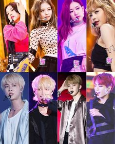 Blackpink x Bts Bts Group Photos, Blackpink Photos, Kpop Couples, Cute Couples, Guan Yu, Fandom Kpop, Bts Girl, K Pop, Blackpink And Bts