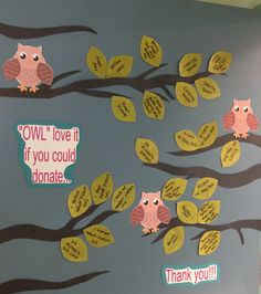 """Owl"" love it if you could donate... My classrooms wish list for the school year."