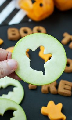 Spooky Snacks and Healthy Halloween Treats: Spooky Apple Slices