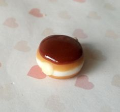 Boston cream doughnut charm by ScrumptiousDoodle on Etsy, $7.00