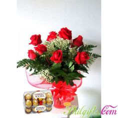 Rose with Chocolates http://www.philgifts.com/rose-with-chocolates-to-philippines.html