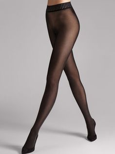 Love yourself in designer hosiery with the Velvet De Luxe 50 Tights from Wolford. An exceptionally smooth opaque tight with excellent stretch for a perfect fit in a matte finish. Wolford Tights, Sheer Tights, Opaque Tights, Wolford Stockings, Black Stockings, White Tights, Black Pantyhose, Chantal Thomass, Style Outfits