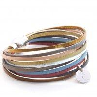 Bracelet en cuir multiliens Spitalfields - Lili Shopping Plus Bracelets For Men, Handmade Bracelets, Fashion Bracelets, Handcrafted Jewelry, Beaded Bracelets, Pandora Bracelets, Diy Leather Bracelet, Leather Jewelry, Bracelet Men