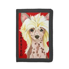 Chinese Crested Color Block Trifold Wallet   pug kids crafts, pug chihuahua, white pug puppies #christmasgiftideas #pugmug #christmasiscoming