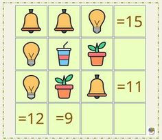 Aritmética con imágenes. Razonamiento y cálculo #juegosdeinteligencia