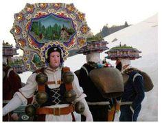 Deities, Alps, Pagan, Happy New Year, Switzerland, Folk, Sculpture, Costumes, Traditional