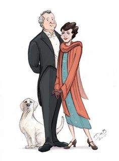 Lord and Lady Grantham and the fabulous Dog!!