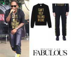 Shop Celebrity Closet: Future Opening Ceremony x Elvis Can't Help Falling In Love Sweatshirt & Sweatpants - http://www.becauseiamfabulous.com/2014/03/future-opening-ceremony-x-elvis-cant-help-falling-in-love-sweatshirt-sweatpants/