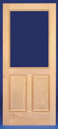 Wood storm doors wood screen door and storm doors on for Removable screen door