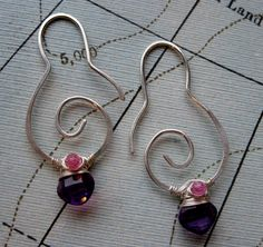 AAA Amethyst and Tourmaline Sterling Silver by julianamarquis