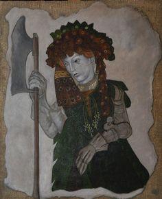 Rittrati Medievali fresk