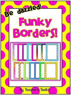 {Freebie}  Funky Borders!  Commercial Use OK