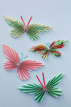 Como fazer borboletas de papel para decoração | Cacareco