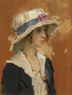 Isaac Israëls - Meisje met zomerhoed. No other painter came close. Isaac Israels was the American master of  women and their hats. This is exquisite! Postscript: Israels was, in fact, Dutch and lived all of his days in Europe. Where I got the idea that he relocated to America at some point is an utter mystery to me. Apologies to all!