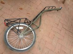 Single wheel #bike #trailer - For more great pics, follow www.bikeengines.com
