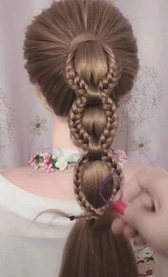 Ponytail Hairstyles Tutorial, Easy Hairstyles For Long Hair, Braids For Long Hair, Up Hairstyles, Braided Hairstyles, Hair Scarf Styles, Front Hair Styles, Long Hair Video, Hair Videos