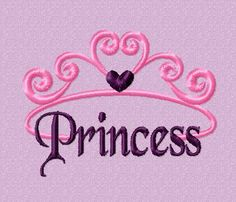 Princess Embroidery Design by EmbroideryDownloads on Etsy, $1.99