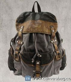 Leather-Canvas-Backpack-Canvas-Backpack-Laptop-Bag-1 Leather Backpack For Men, Leather Laptop Bag, Messenger Bag Men, Leather Briefcase, Leather Shoulder Bag, Leather Bags, Canvas Laptop Bag, Canvas Duffle Bag, Real Madrid