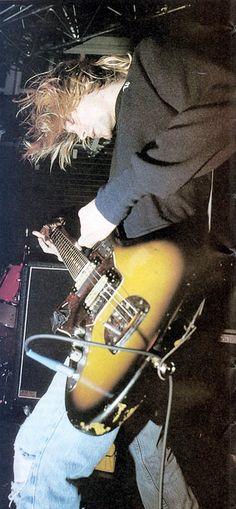 Kurt Cobain, Dallas, October 19, 1991 #NIRVANA [Kurt Cobain, Krist Novoselic, Dave Grohl]