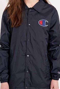 "Champion – Jacke ""Coaches"" in Marineblau - Urban Outfitters"