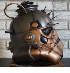 Brian Rood's awesome Steampunk Stormtrooper Helmet