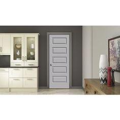 Jeld-Wen Driftwood Prehung Solid Core 5-Panel Equal Interior Door (Com