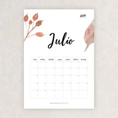 calendario 2019 julio Bullet Journal 2019, Moon Painting, Girl Meets World, School Hacks, Monthly Planner, Free Printables, Origami, Diy And Crafts, Notebook