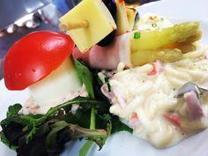 Spargelröllchen mit Schinken Fliegenpilz Käsespieß Eiersalat & Muttis Nudelsalat #live #zeitreise #60s