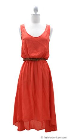 LOVE this dress. So simple, yet you could dress it up, or dress it down! Love the color for summer!!