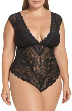 4120da1f82c Plus Size Women s Oh La La Cheri Suzette Lace Teddy Plus Size Underwear