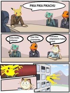 Ese Pikachu es todo un loquillo..