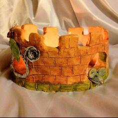 The castle of mouse.  Ceramic, glass, copper wire...