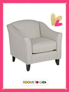 The transitional style of the Park Place accent chair brings a sophisticated look to your living room.