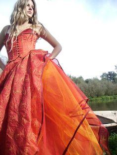 Kaat Tilley - blood orange fantasy dress