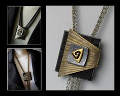A pendant by Helen Breil from her Magnetic Pendants Video Tutorial