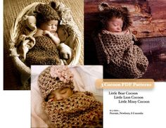 (4) Name: 'Crocheting : 3 PDF Baby Cocoon Crochet Patterns
