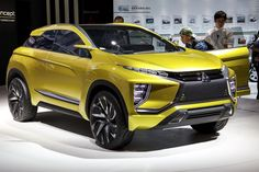 Power comes from an electric powertrain, but the Mitsubishi EX concept hasn't provided details about a potential range or power output. In other words, this is a styling exercise...