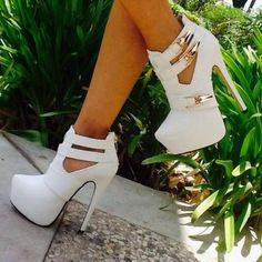really cute white high heels