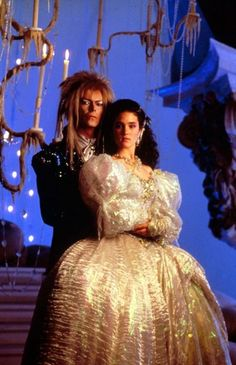 David Bowie and Jennifer Connelly from the movie Labyrinth. I still want to do this for Halloween one year SO BADLY! Scary Movies For Kids, Scary Films, Kid Movies, Great Movies, Awesome Movies, David Bowie Labyrinth, Labyrinth 1986, Labyrinth Movie, Sarah And Jareth