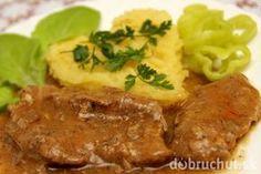 Bravčové plátky na šťave s korením gyros Good Food, Yummy Food, Meatloaf, Food And Drink, Pork, Cooking Recipes, Menu, Snacks, Chicken