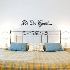 Be our Guest wall decal.