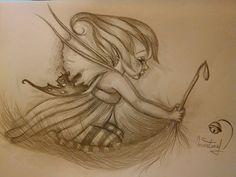 Petite fée follette s'envole sur les ailes du vent : Dessins par mes-tronches-flaurifolles http://www.facebook.com/pages/LES-TRONCHES-FLAURIFOLLES/191864113278